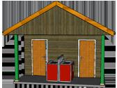 bloc sanitaire pour 2 emplacements