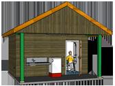 cabine sanitaire personne à mobilité réduite